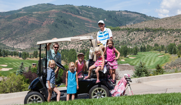Family on a Golf Cart - Cordillera